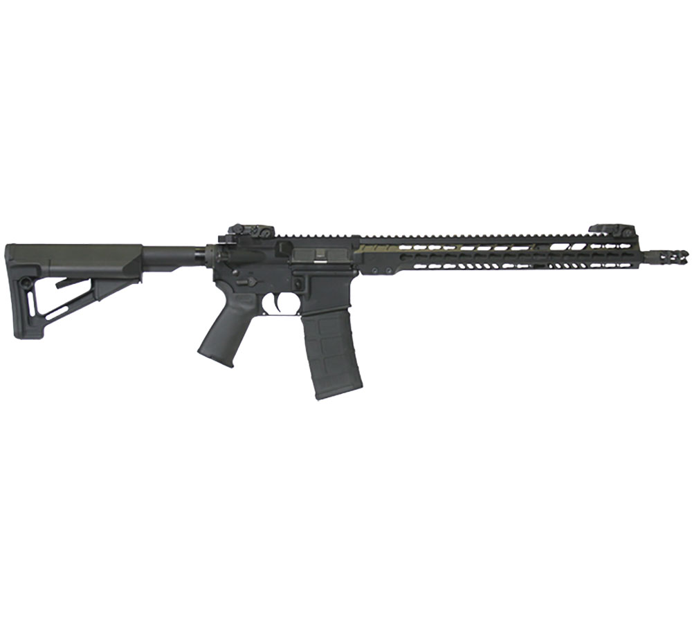 ArmaLite M15TAC16 M-15 Tactical Rifle Semi-Automatic 223 Remington|5.56 NATO 16 FH 30+1 MBUS Magpul STR Black Stk Black Hard Coat Anodized|Phosphate in.