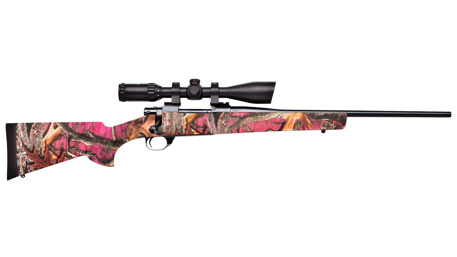 Legacy Sports Howa Hogue Youth Nighteater Bolt Action Rifle with Scope Package Foxy Woods Camo .223 Rem 20 inch 4 rd with Nikko Stirling Nighteater 3-9X42 scope
