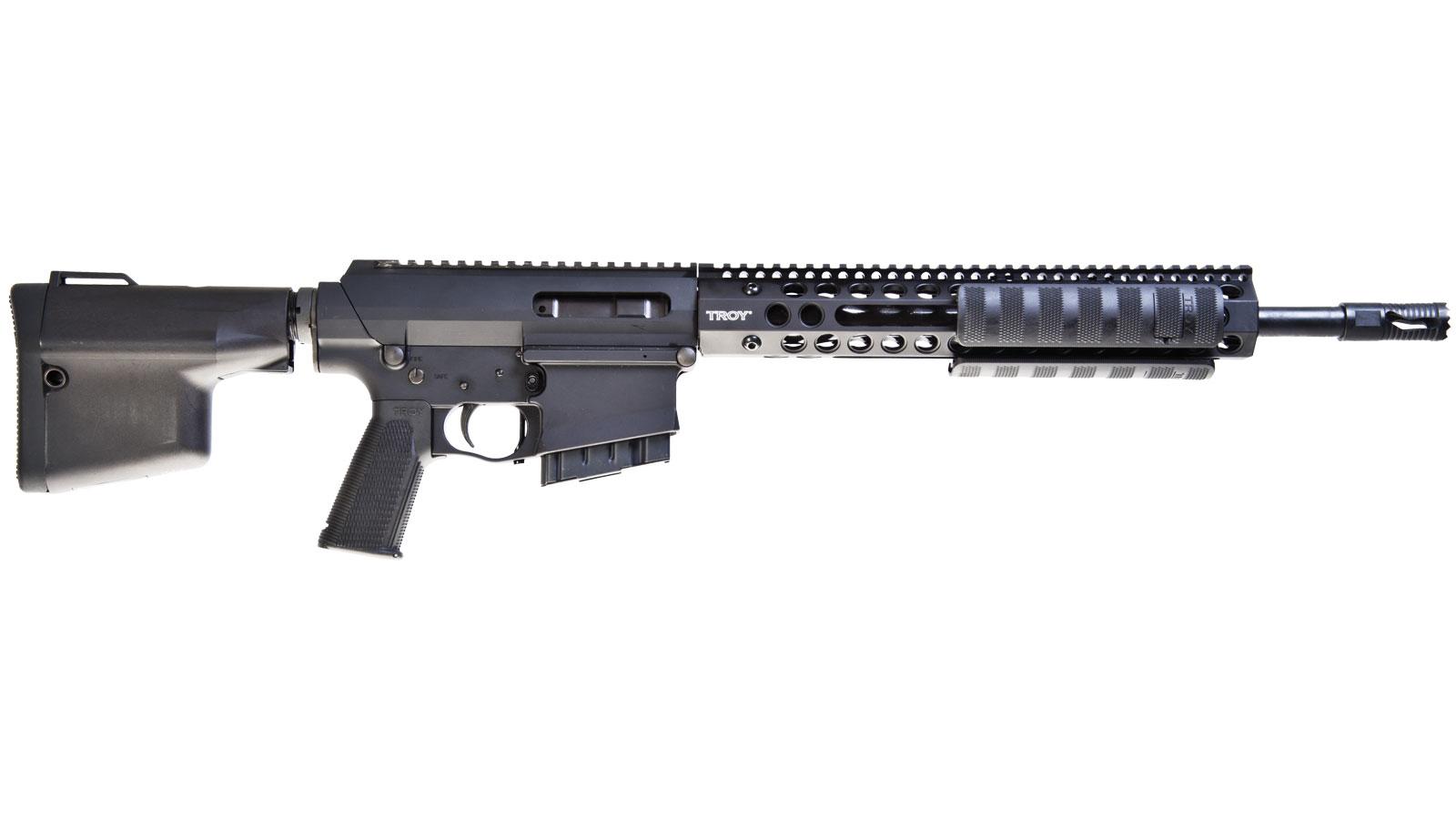 Troy SPARS3816BT PAR Pump Action Rifle 308|7.62 16 10+1 Fxd CQB Stk Blk in.