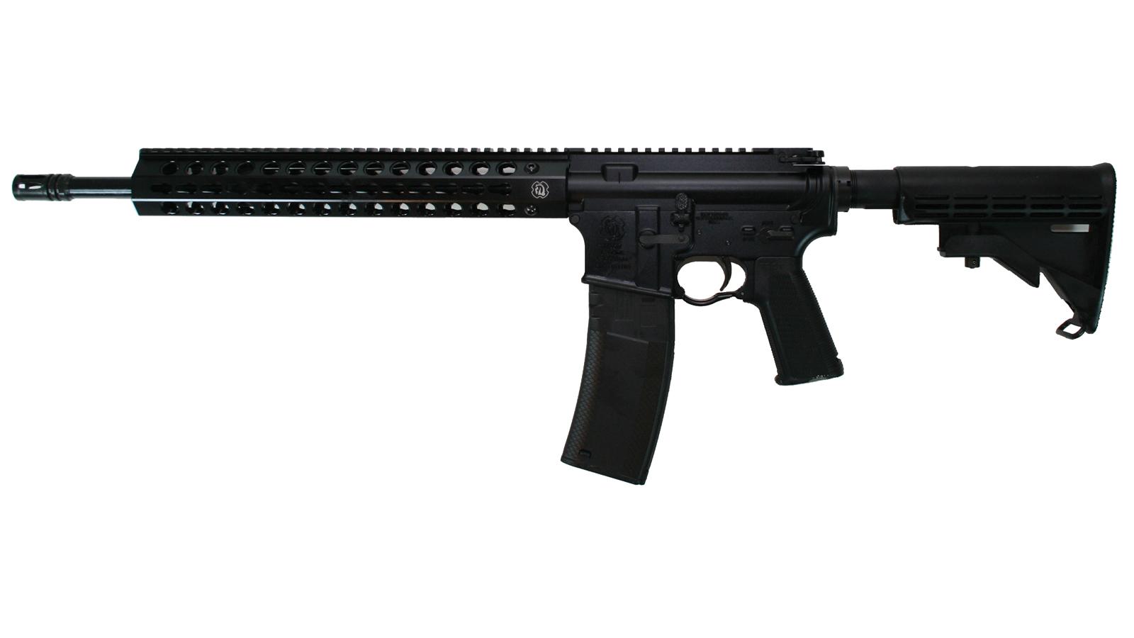 Troy Ind  CBQ SPC A3 Semi-Automatic 223 Remington|5.56 NATO 16 30+1 6-Position Black Stk Black Hard Coat Anodized in.