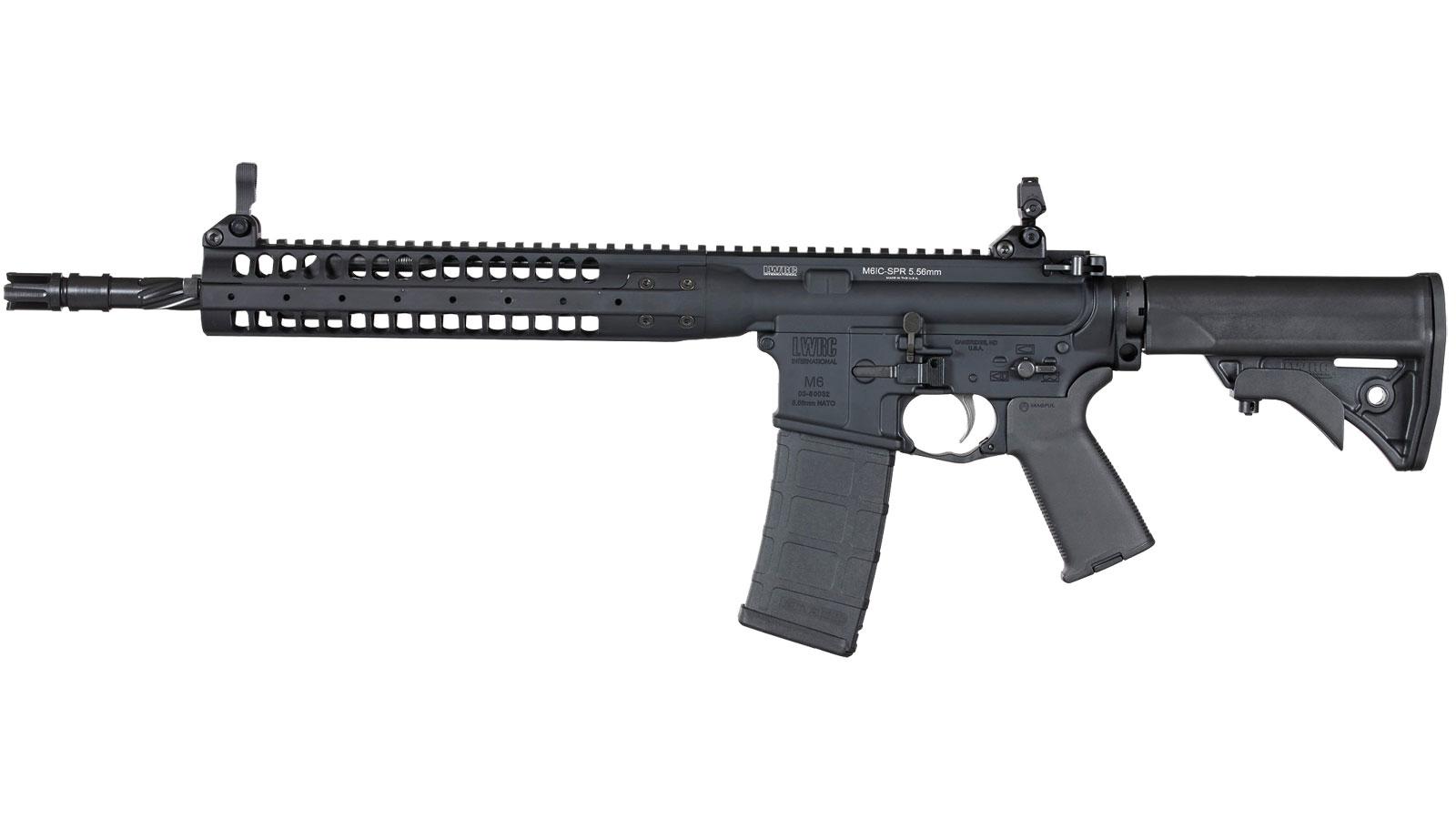 LWRC ICR5B14PSPR Individual Carbine SPR Semi-Automatic 223 Remington|5.56 NATO 14.7 30+1 Adjustable Black Stk Black in.