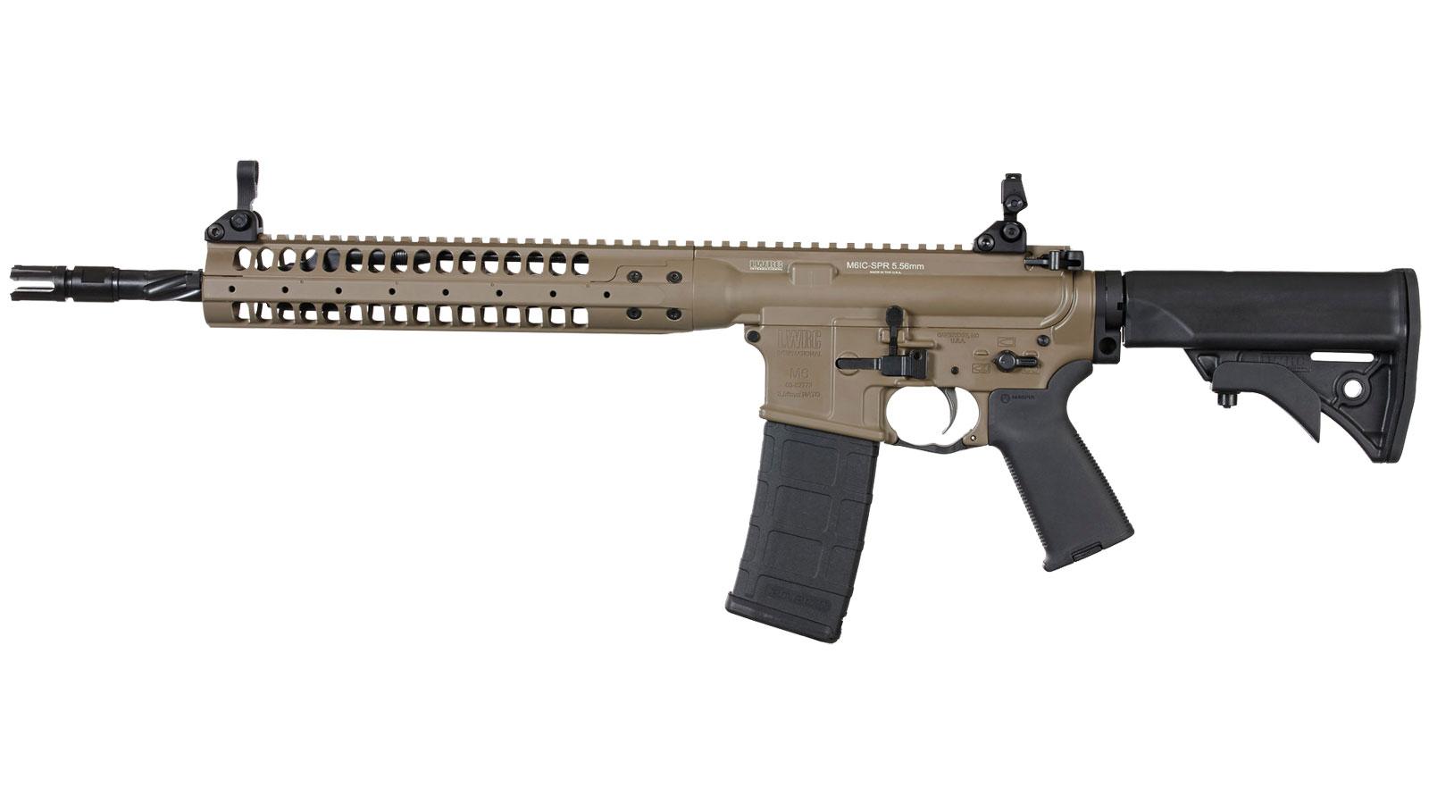 LWRC ICR5CK14PSPR Individual Carbine SPR Semi-Automatic 223 Remington|5.56 NATO 14.7 30+1 Adjustable Black Stk Flat Dark Earth in.