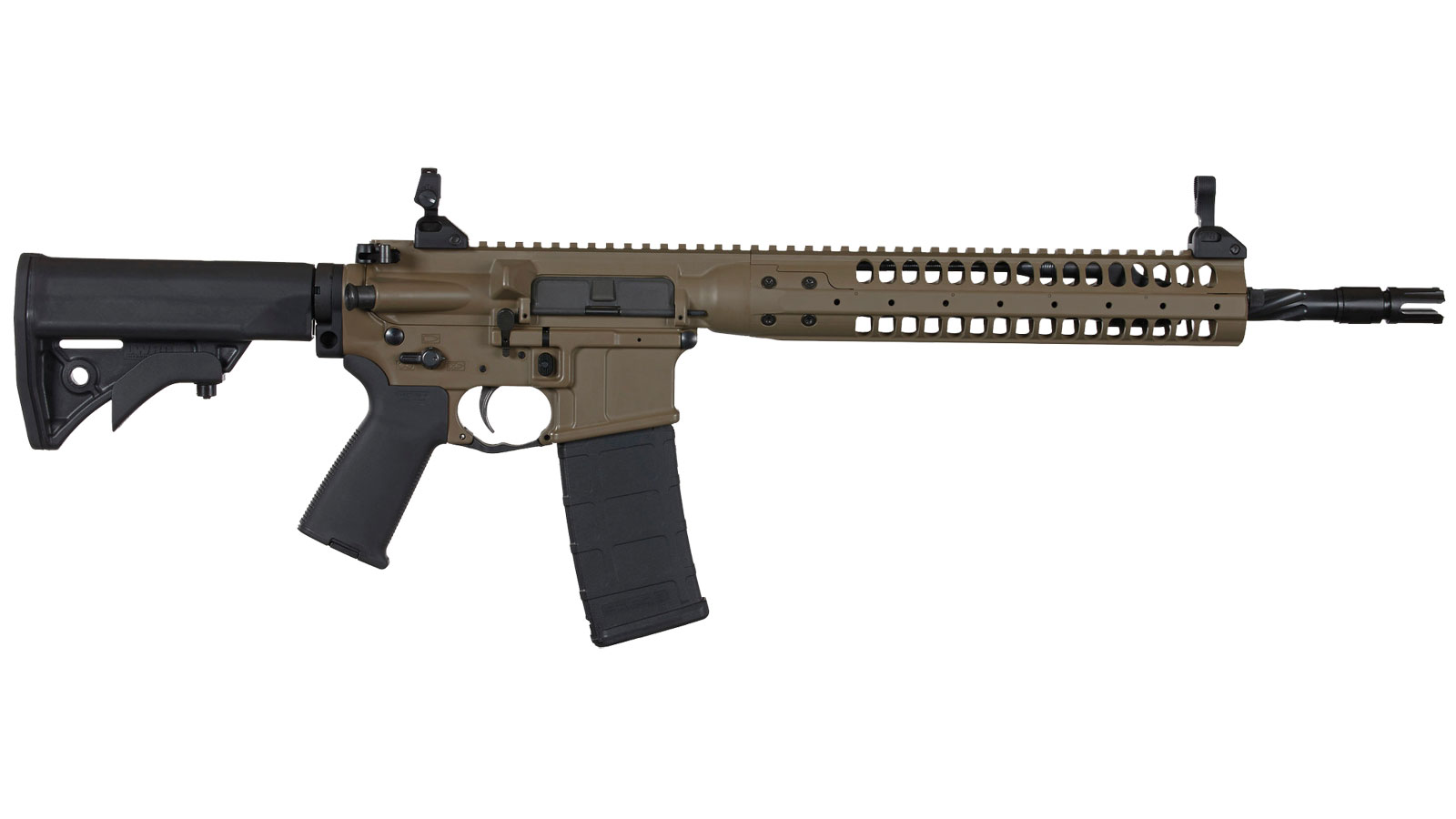 LWRC ICR5PBC16SPR Individual Carbine SPR Semi-Automatic 223 Remington|5.56 NATO 16.1 30+1 Adjustable Black Stk Patriot Brown in.