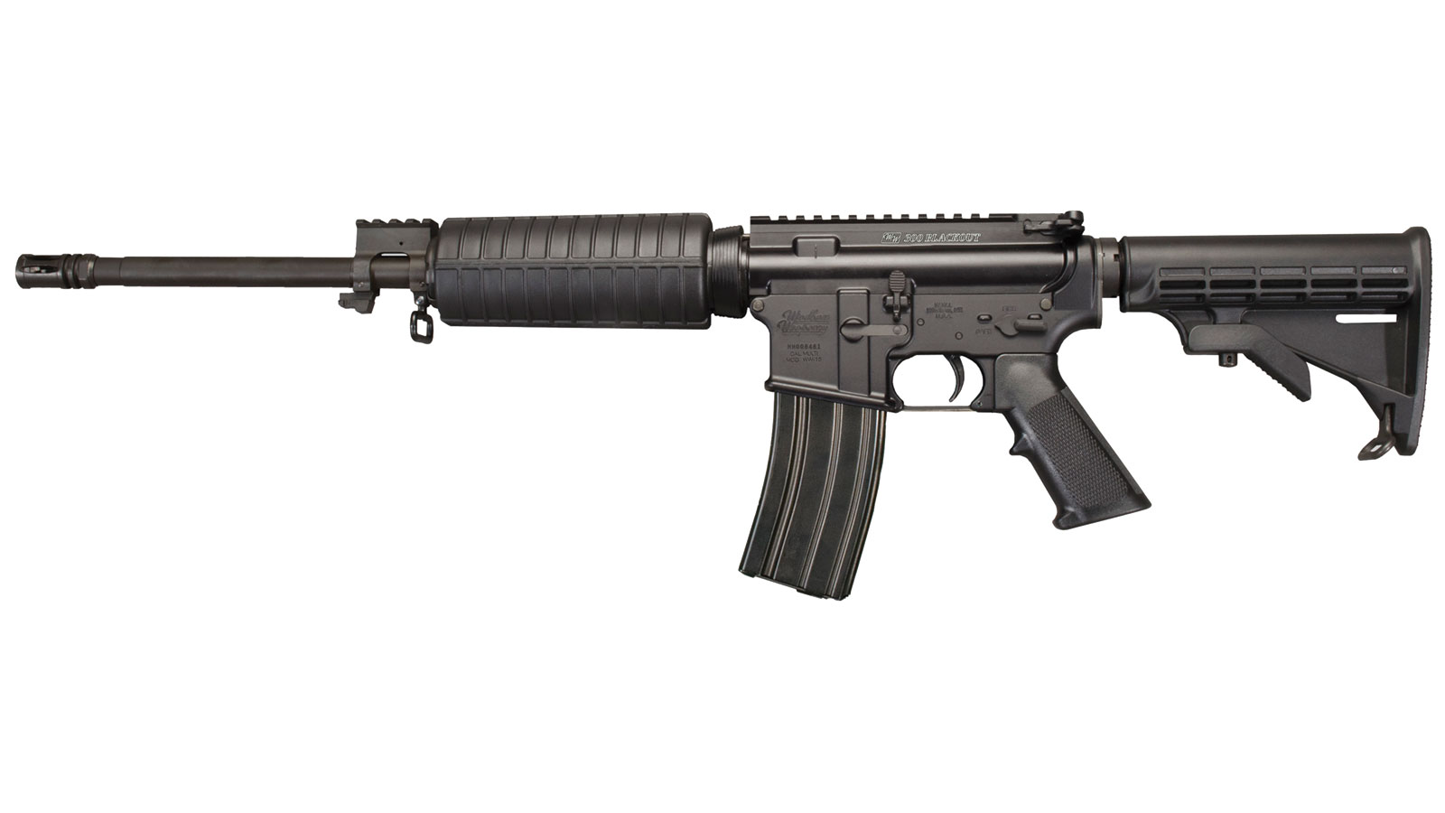 Windham Weaponry R16FTT300 SRC Semi-Automatic 300 AAC Blackout|Whisper (7.62x35mm) 16 30+1 6-Position Black Stk Black Hard Coat Anodized|Black Phosphate in.