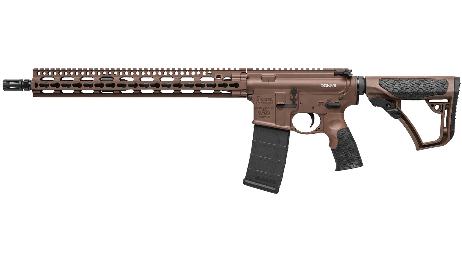Daniel Defense 16191047 DDM4 V11 Semi-Automatic 300 AAC Blackout|Whisper (7.62x35mm) 16 30+1 6-Position Brown Stock Brown Cerakote|Black Phosphate in.