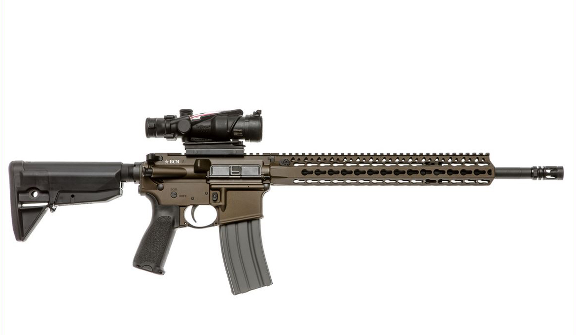 Bravo 750-790-BRZ BCM RECCE-16 Semi-Automatic 223 Remington|5.56 NATO 16 6-Position Blk Stk Bronze in.