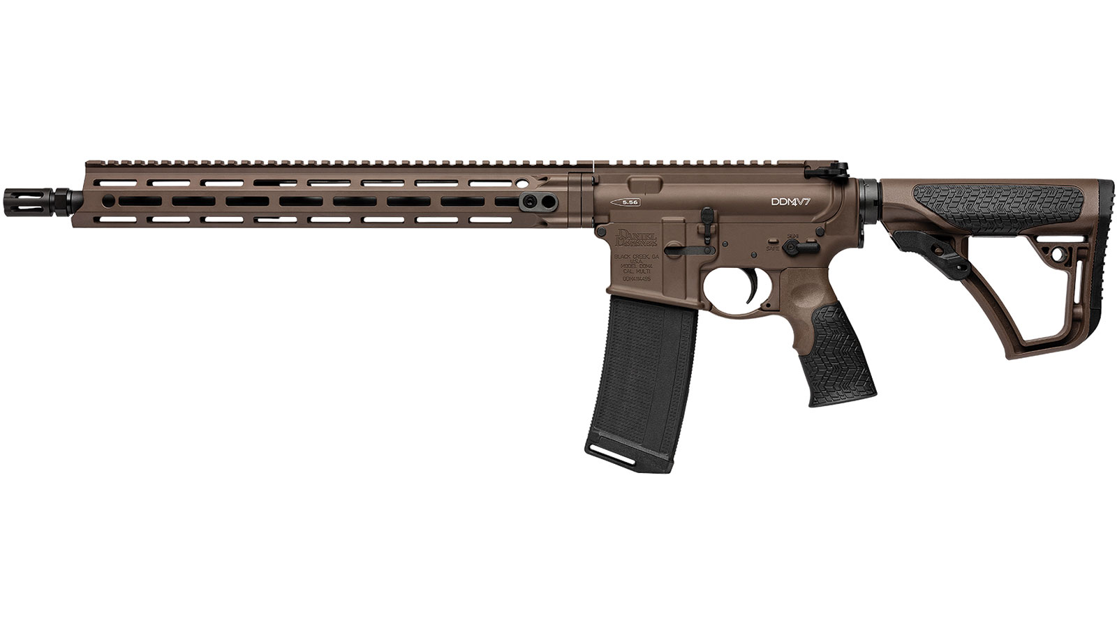 Daniel Defense 02338047 DDM4 V7 Semi-Automatic 223 Rem|5.56 NATO 16 30+1 6-Position Brown Stk Brown Cerakote in.