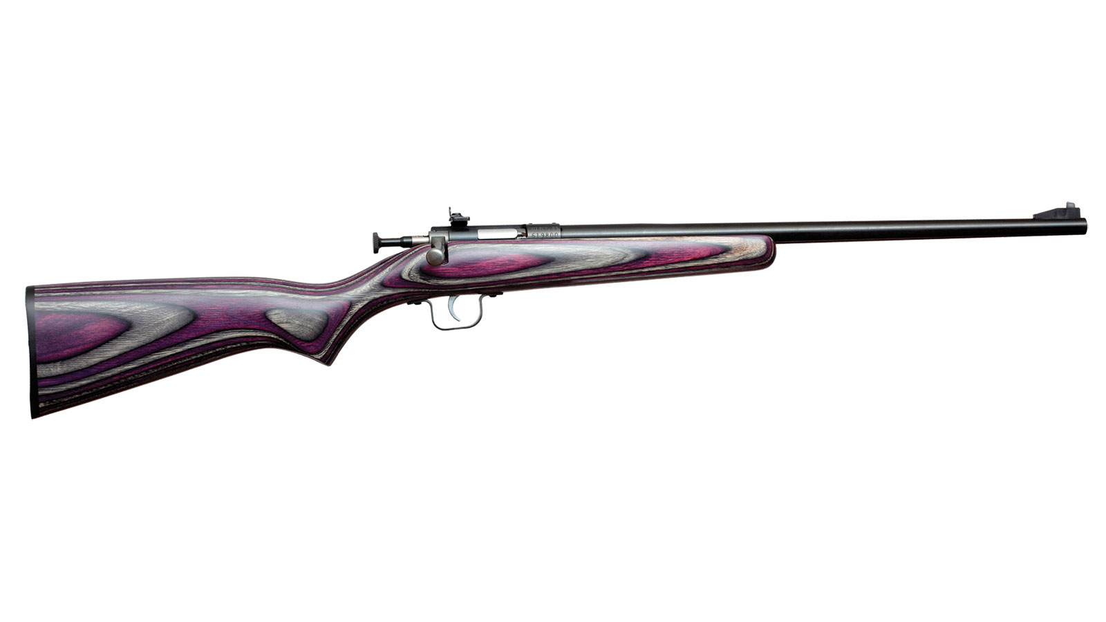 Crickett KSA2227 Single Shot Bolt 22 Long Rifle (LR) 16.12 1 Laminate Purple Stk Blued in.