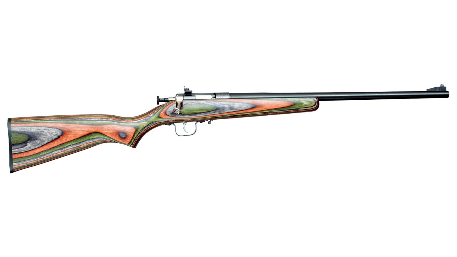 Crickett KSA2252 Single Shot Bolt 22 Long Rifle (LR) 16.12 1 Laminate Camouflage Stk Blued in.