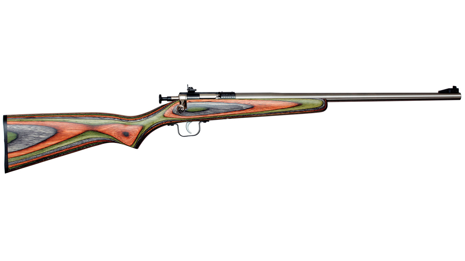 Crickett KSA3252 Single Shot Laminate Bolt 22 Long Rifle (LR) 16.125 1 Laminate Camouflage Stk Stainless Steel in.