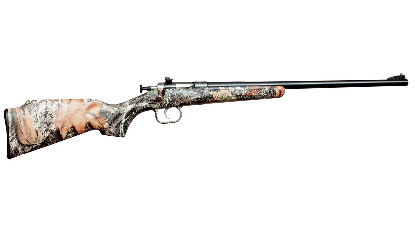 Crickett KSA2284 Single Shot Synthetic Bolt 22 Winchester Magnum Rimfire (WMR) 16.125 1 Synthetic Mossy Oak Break-Up Stk Blued in.