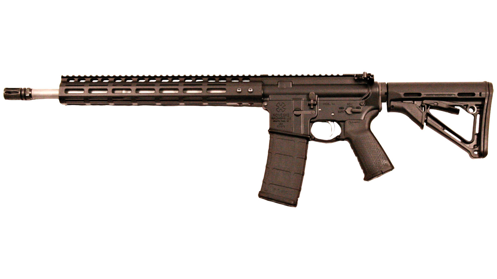 Noveske 02000402 Rogue Hunter Gen 1 M-Lok Semi-Automatic 223 Remington|5.56 NATO 16 30+1 Magpul CTR Black Stk Black Hardcoat Anodized|Stainless Steel in.