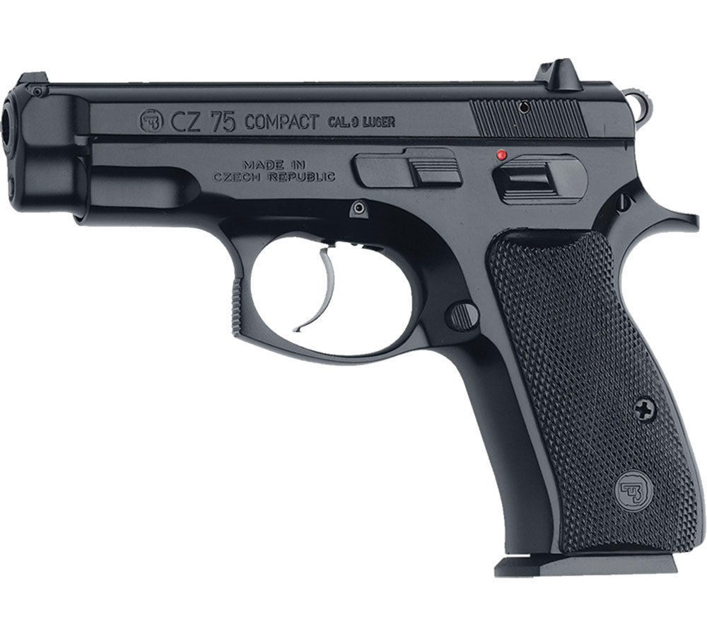 CZ 01190 CZ 75 *CA Compliant* 9mm Luger Single|Double 3.8 10+1 Black Polymer Grip Black Slide in.