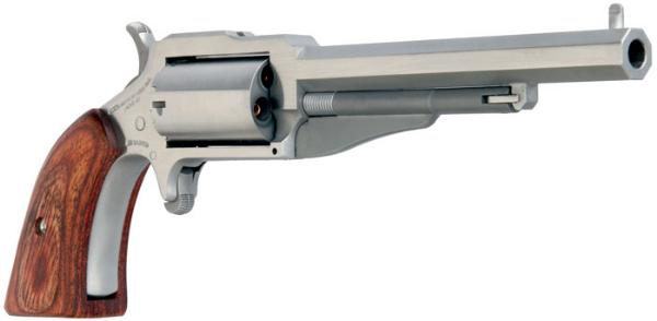 NAA 18603 1860 The Earl 3 Single 22 Winchester Magnum Rimfire (WMR) 3 in.  5 Wood Stainless in.