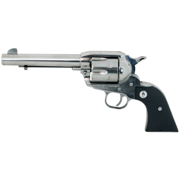 Ruger 5134 Vaquero SASS Single 45 Colt (LC) 5.5 6 rd Black Synthetic Grip Stainless Steel *1of2* in.