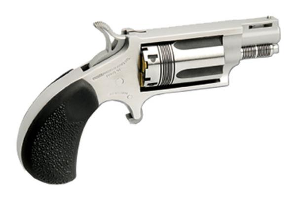 NAA 22MTW 22 Magnum The Wasp Single 22 Winchester Magnum Rimfire (WMR) 1.6 5 Black Rubber Stainless in.