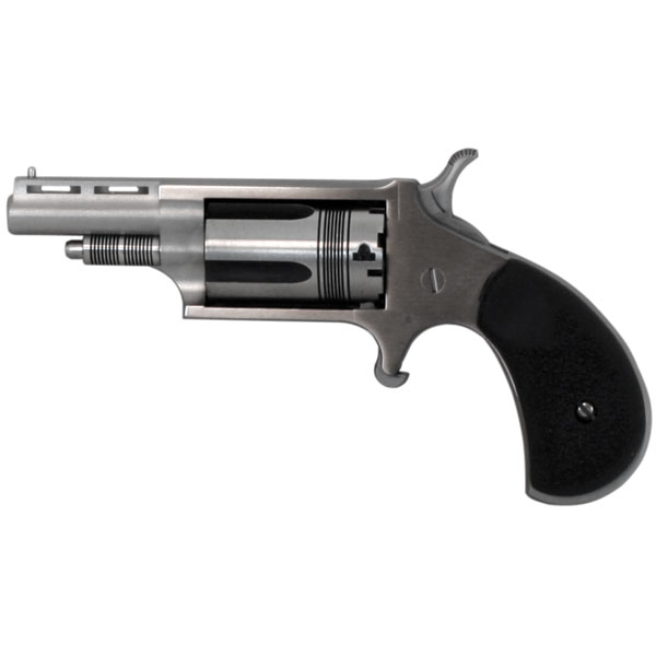 NAA 22MCTW 22 Magnum The Wasp with 22 LR Cylinder Single 22 Winchester Magnum Rimfire (WMR) 1.6 5 Black Rubber Stainless in.