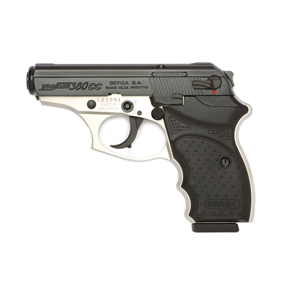 Bersa T380DTCC Thunder 380 Concealed Carry 380 Automatic Colt Pistol (ACP) Single|Double 3.2 8+1 Nickel Aluminum Alloy Frame Black Slide in.