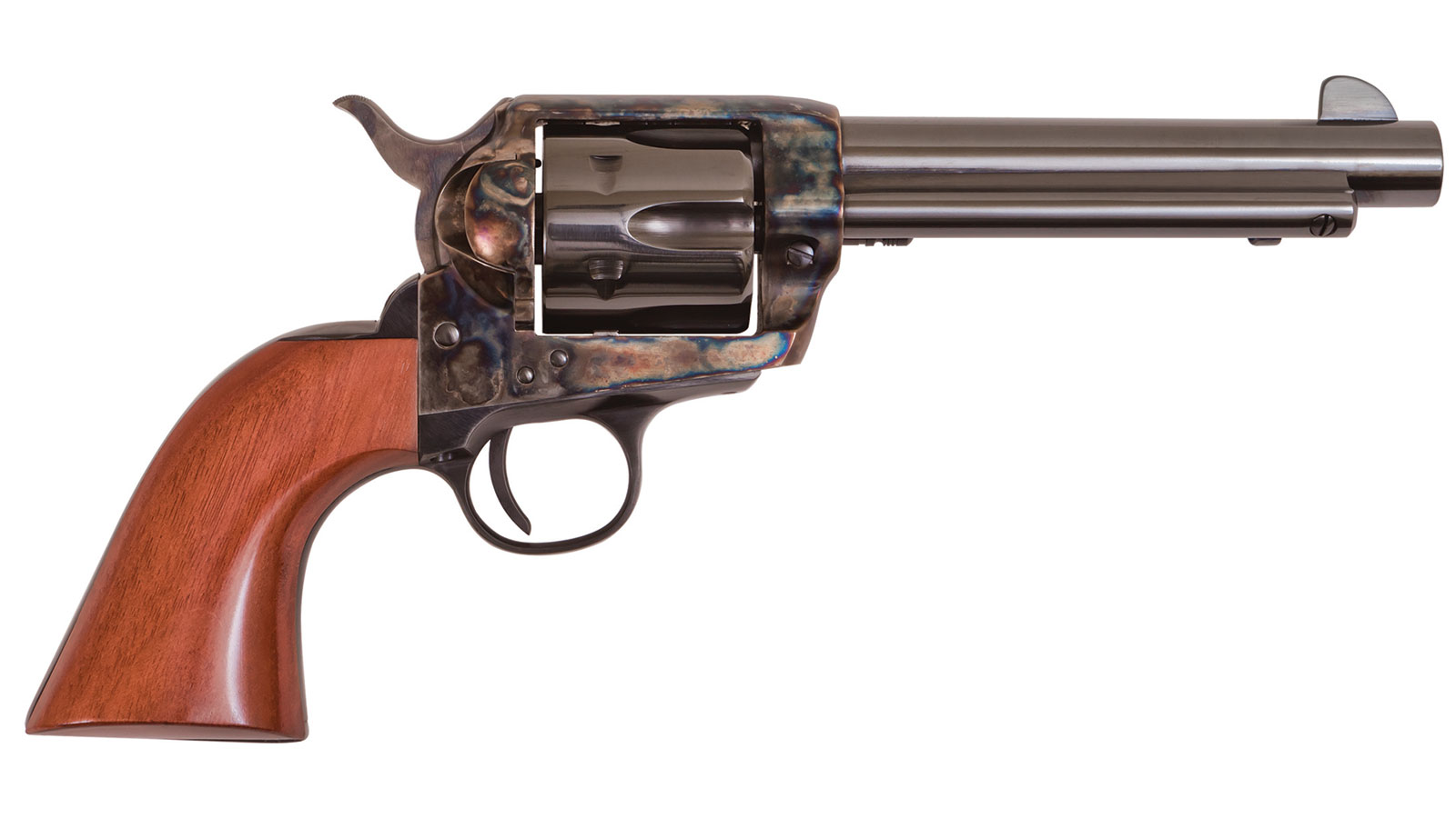 Cimarron PP400 Frontier Pre-War 1896-1940 Revolver 357|38 Special 4.75 Walnut Grip Blued in.