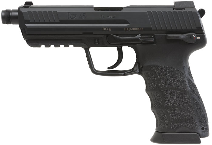 HK 745007TA5 HK45T Tactical V7 LEM 45 Automatic Colt Pistol (ACP) Double 5.2 10+1 Black Interchangeable Backstrap Grip Black Slide in.