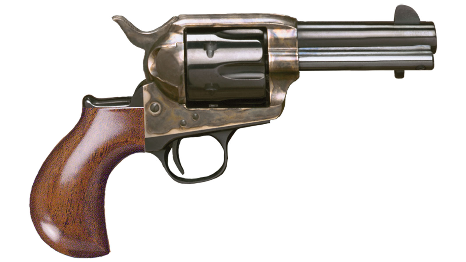 Cimarron CA346 Thunderer Model P Revolver 45 Colt (LC) 3.5 Walnut Grip Blued in.