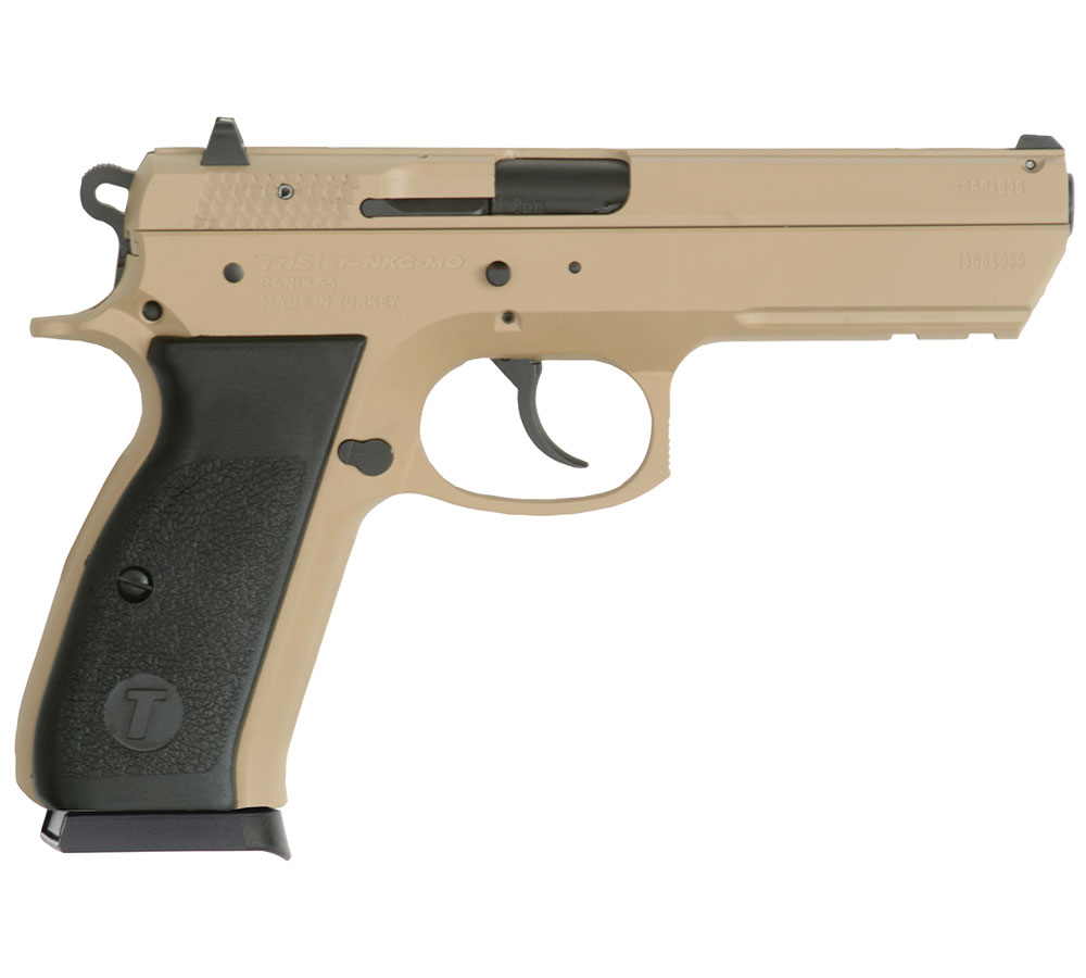 TriStar 85096 T-120 Aluminum Single|Double 9mm Luger 4.7 17+1 Black Polymer Grip Desert Tan Cerakote in.