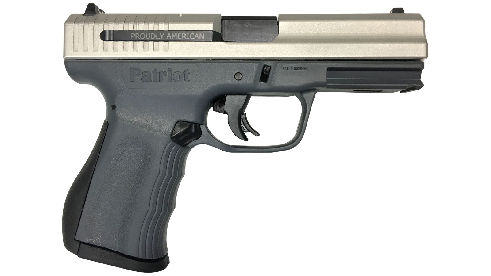 FMK Firearms Patriot Semi Auto Handgun Stainless | Black 9mm 54 inch 14 rd