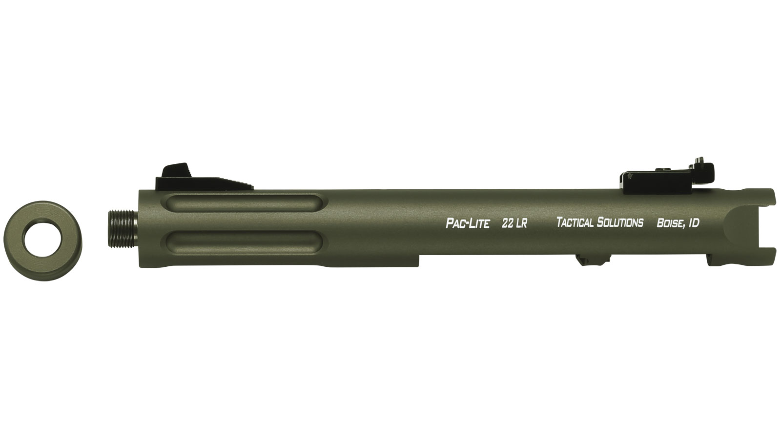 Tactical Solutions Pac-Lite Olive Drab Green 4.5-inch Fluted Threaded Barrel