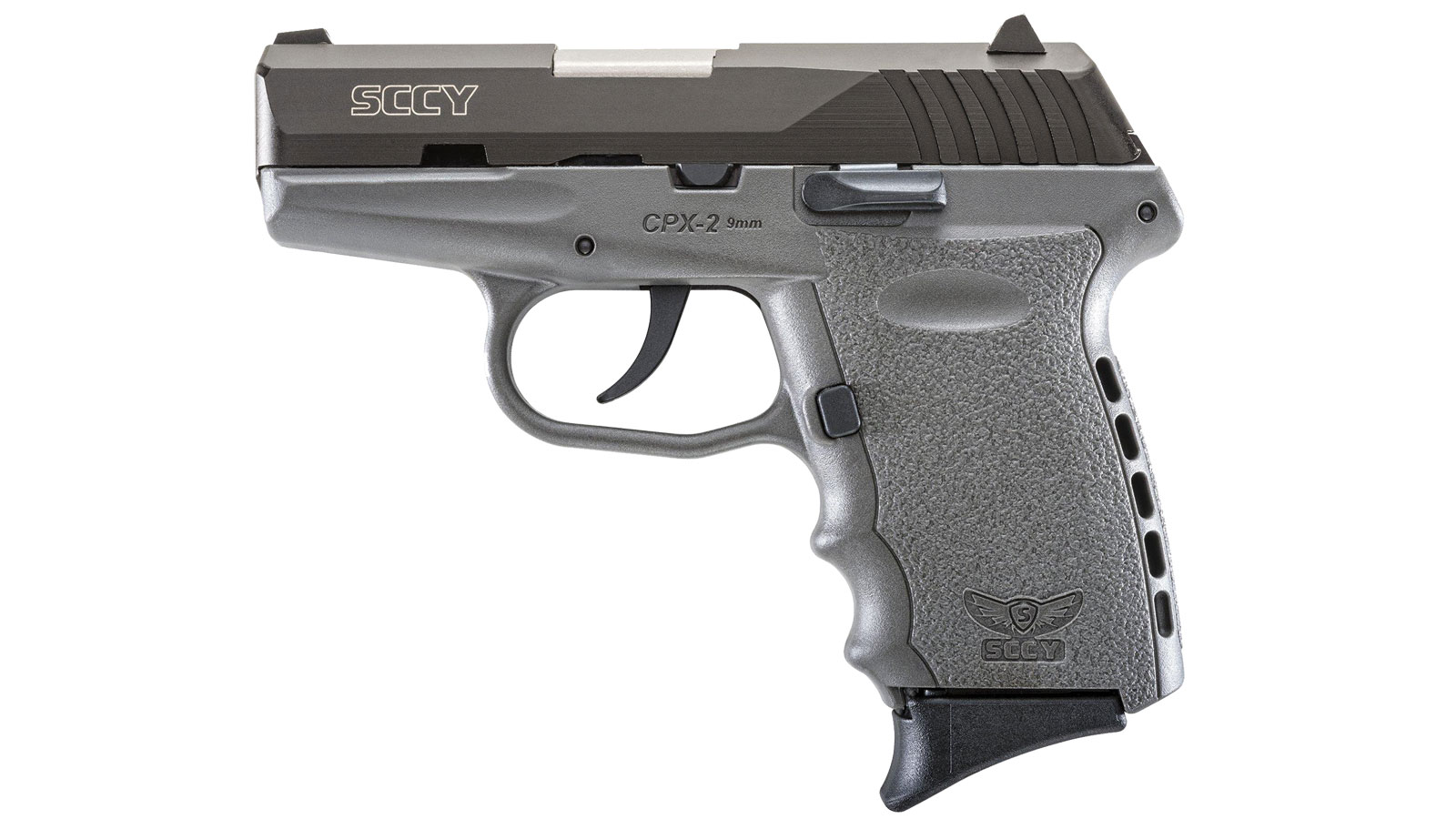 SCCY Industries CPX2CBSG CPX-2 Double 9mm 3.1 10+1 Gray Polymer Grip|Frame Grip Black Nitride Stainless Steel in.