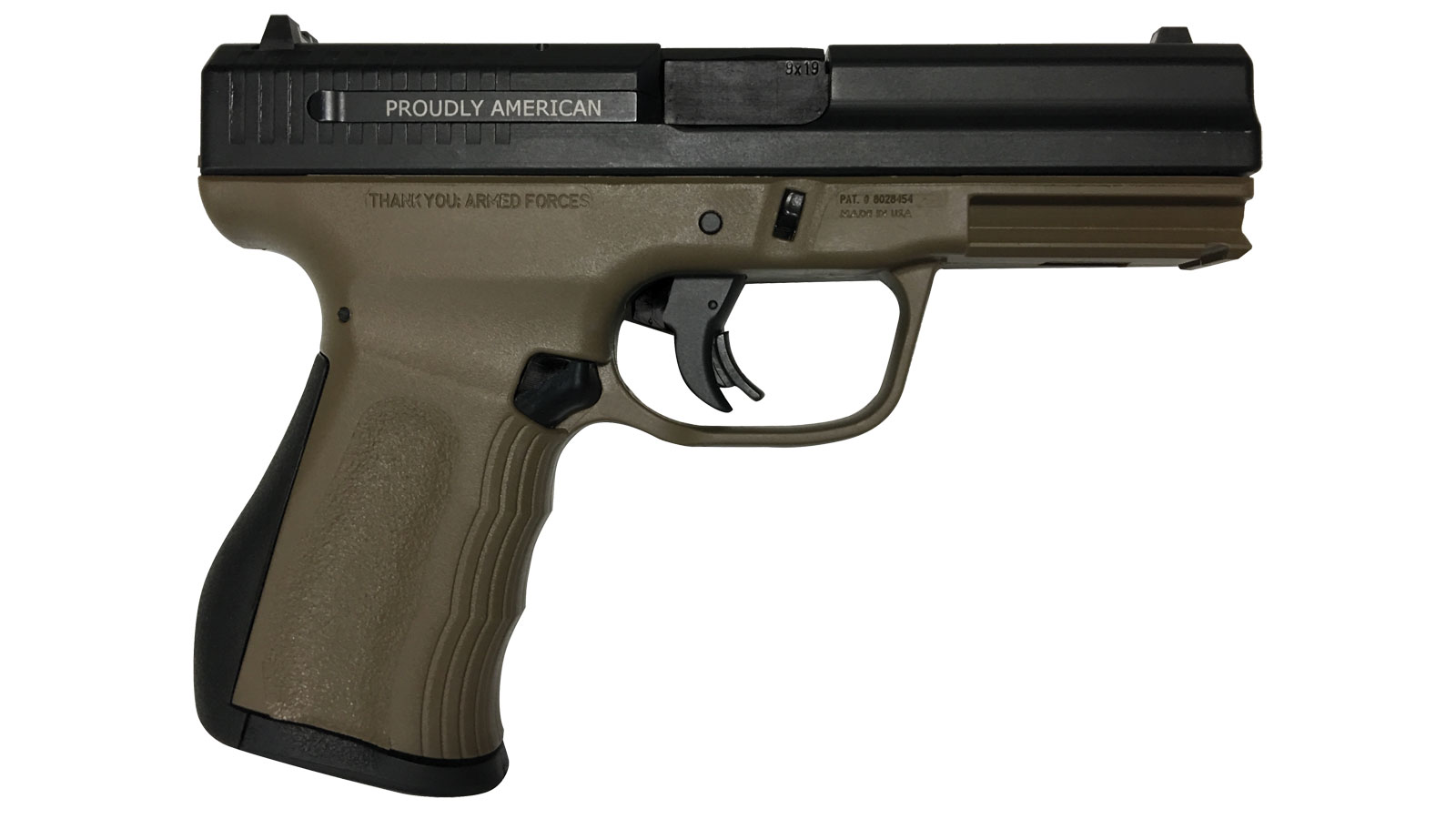 FMK Firearms 9C1 G2 Compact FAT, Semi-Automatic, 9mm, 4 quot Barrel, Burnt Bronze, 14+1 Rounds