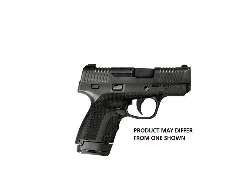 Honor Defense HG9SCCT Honor Guard Sub-Compact with Crimson Trace Double 9mm Luger 3.2 7+1|8+1 Black Polymer Grip Black Stainless Steel in.