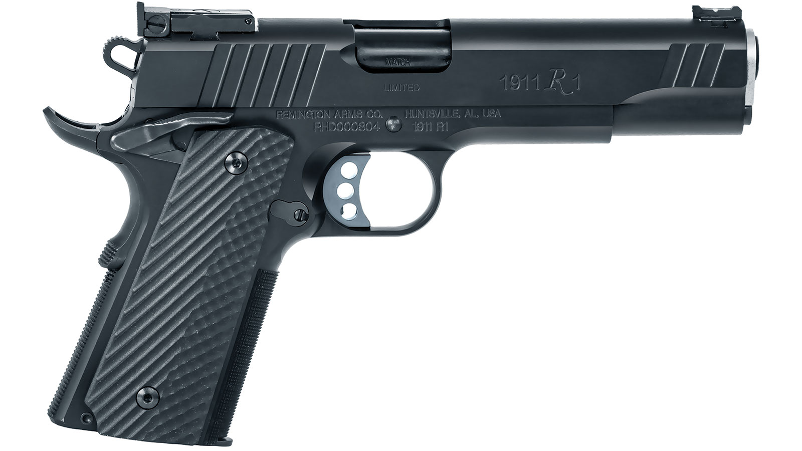 Remington Firearms 96718 1911 R1 Single 9mm Luger 5 9+1 Black G10 Grip Black Stainless Steel in.