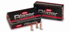 CCI 3514 Blazer  38 Special +P 125 GR Jacketed Hollow Point 50 Bx| 20 Cs