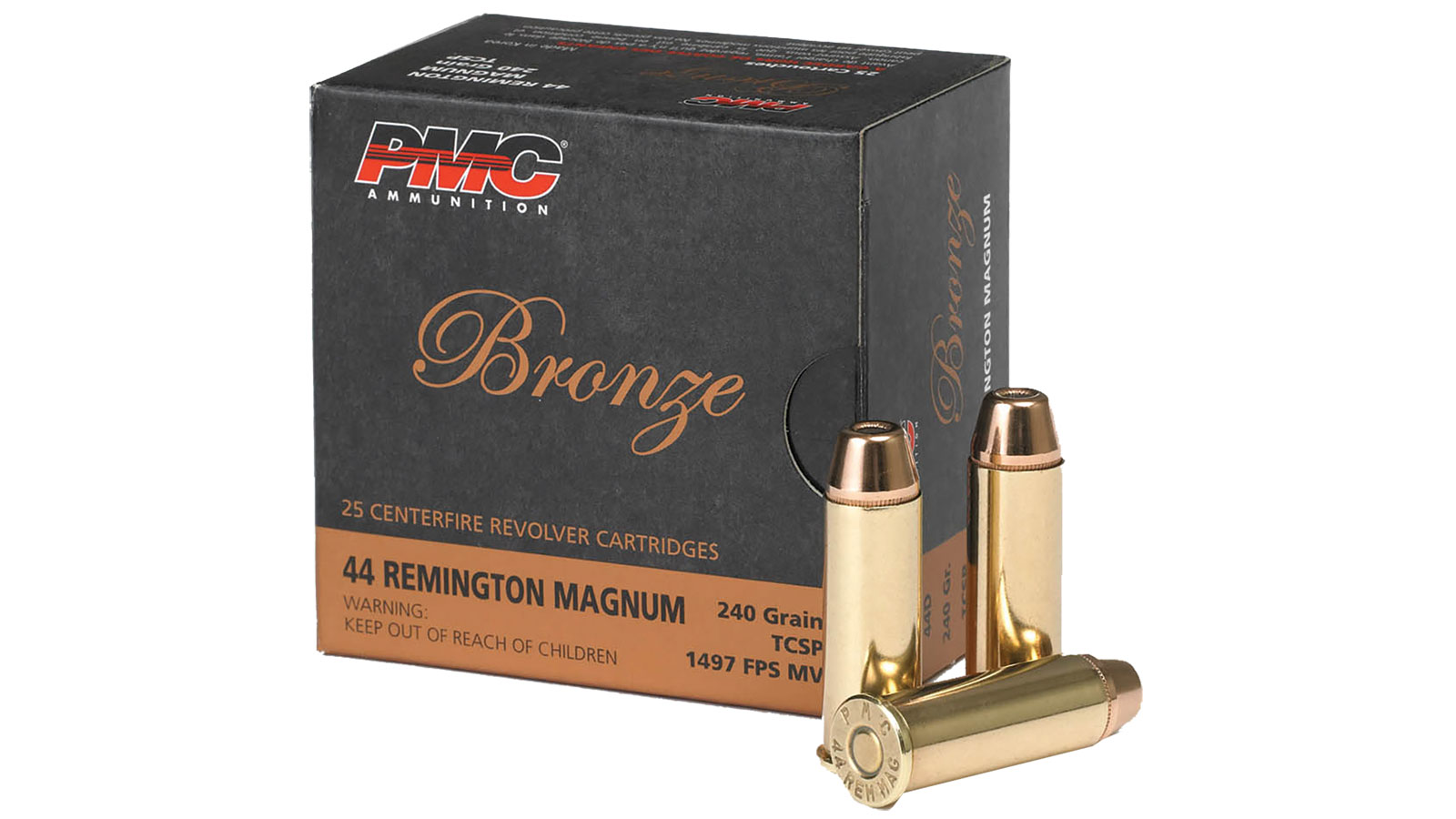 PMC 44D Bronze 44 Rem Mag 240GR Truncated Cone Soft Point 25Box|20 Case