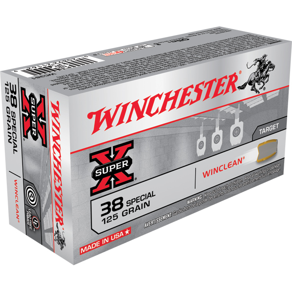 Winchester Ammo WC381 WinClean 38 Special 125 GR Jacketed Flat Point Tin Core 50 Bx|10 Cs