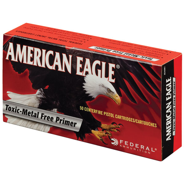 Federal AE40N1 American Eagle Indoor Range Training (IRT) 40 Smith & Wesson (S&W) 180 GR Total Metal Jacket 50 Bx| 20 Cs