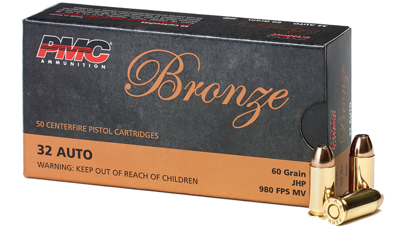 PMC Ammunition Bronze Line 32 Auto 60 Grain 50 Rd