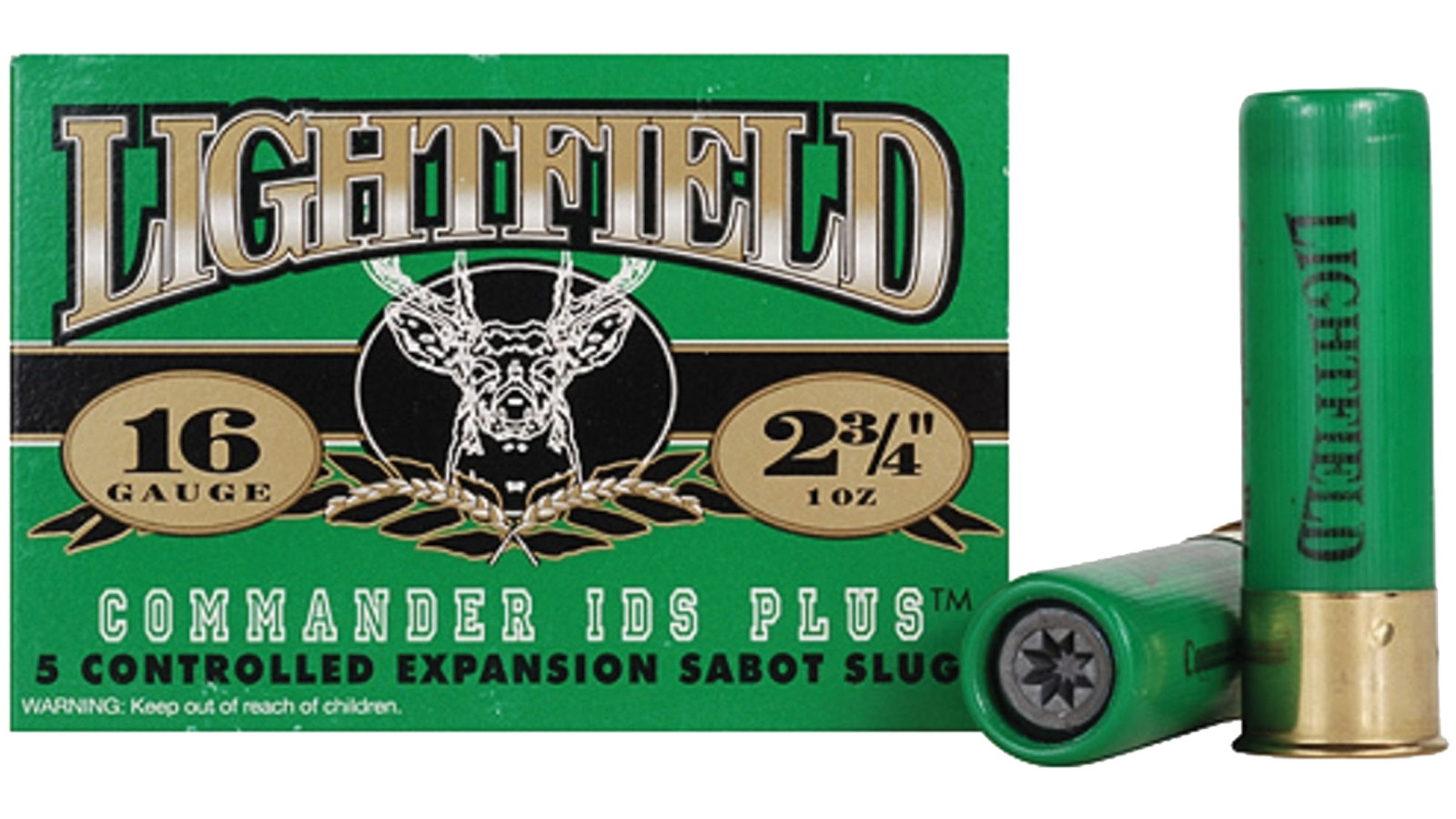 Lightfield Commander LFC16, 16 Gauge, 2-3|4 in. , 7|8 oz, 1630 fps, #Slug Slug Shot, 5 Rd|bx