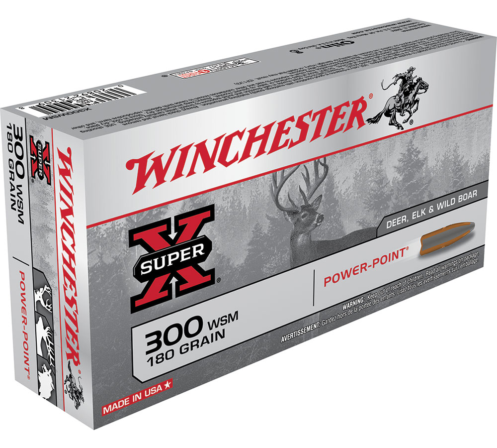 Winchester Ammo X300WSM Super-X 300 Winchester Short Magnum 180 GR Power-Point 20 Bx| 10 Cs