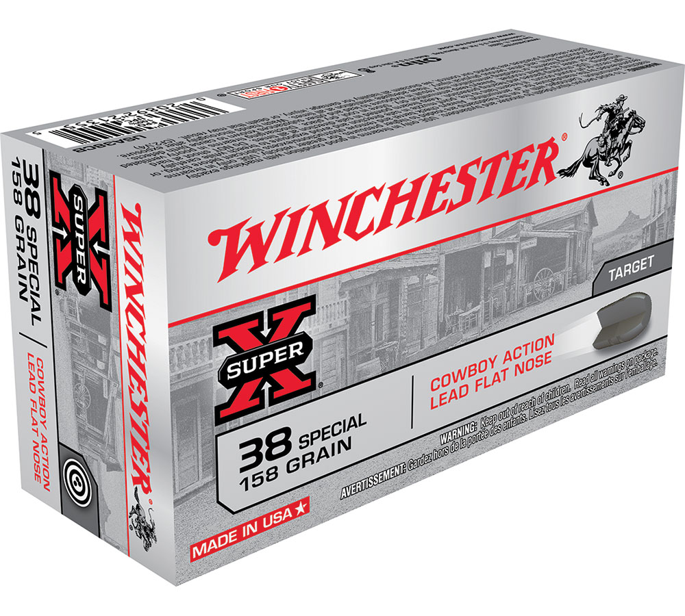 Winchester Ammo USA38CB Super-X 38 Special 158 GR Lead 50 Bx| 10 Cs