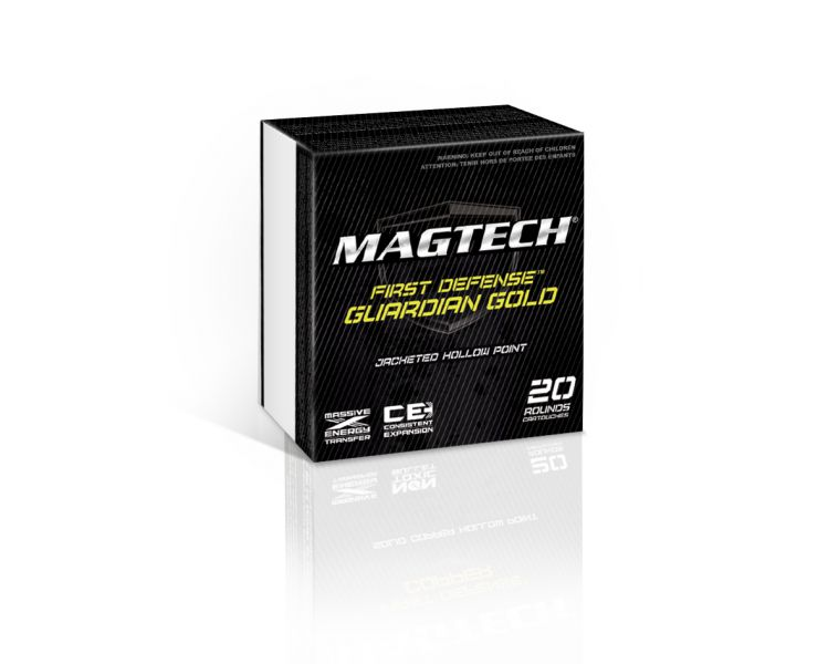 Magtech GG40A Guardian Gold 40 Smith & Wesson (S&W) 155 GR Jacketed Hollow Point 20 Bx| 50 Cs