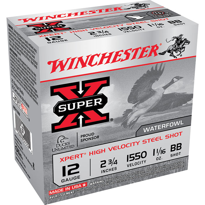 Winchester Ammo WEX12BB Expert Hi-Velocity 12 Gauge 2.75 1-1|16 oz BB Shot 25 Bx| 10 Cs in.