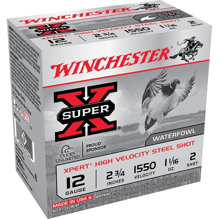 Winchester Ammo WEX122 Expert Hi-Velocity 12 Gauge 2.75 1-1 16 oz 2 Shot 25 Bx  10 Cs in.