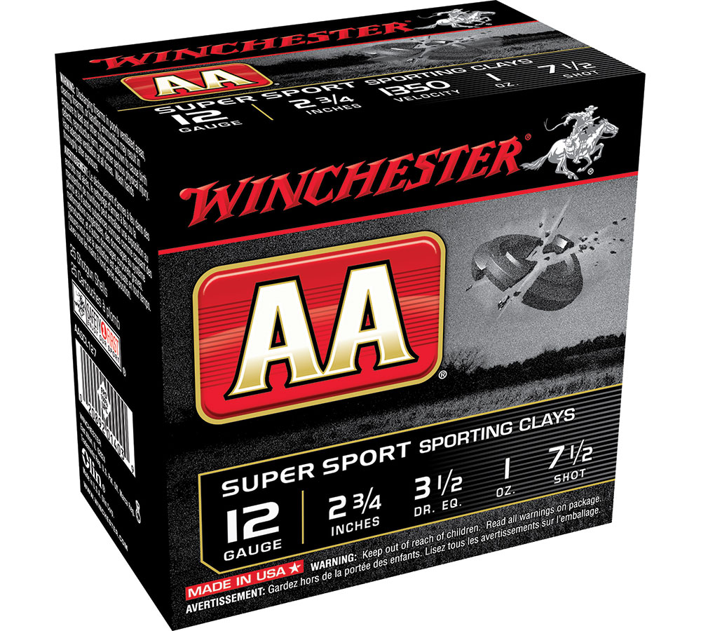 Winchester Ammo AASCL127 AA Target Loads 12 Gauge 2.75 in.  1 oz 7.5 Shot 25 Bx| 10 Cs