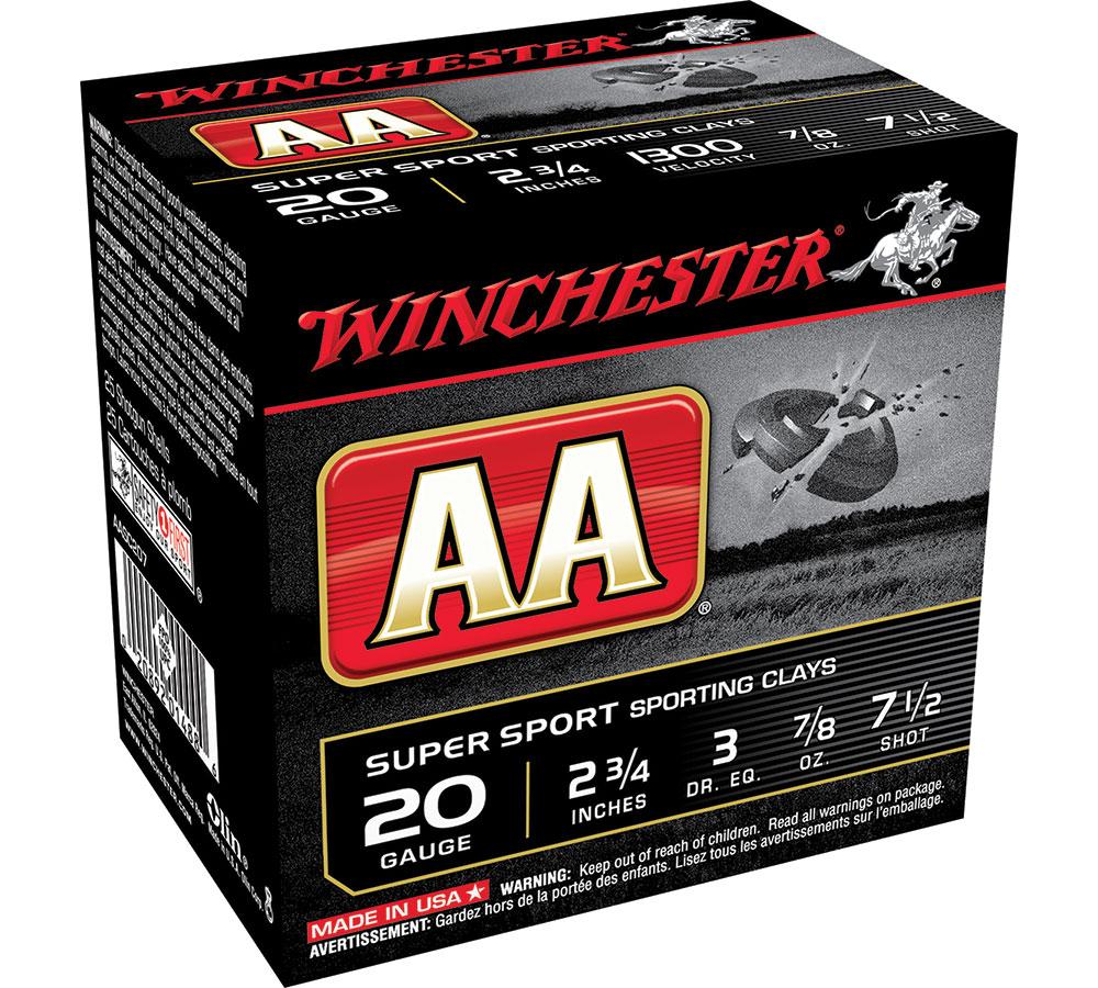 Winchester Ammo AASC207 AA Target Loads 20 Gauge 2.75 in.  7|8 oz 7.5 Shot 25 Bx| 10 Cs