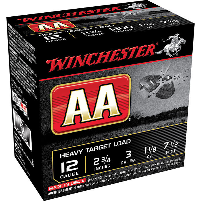 Winchester Ammo AAM127 AA Target Loads 12 Gauge 2.75 in.  1-1|8 oz 7.5 Shot 25 Bx| 10 Cs