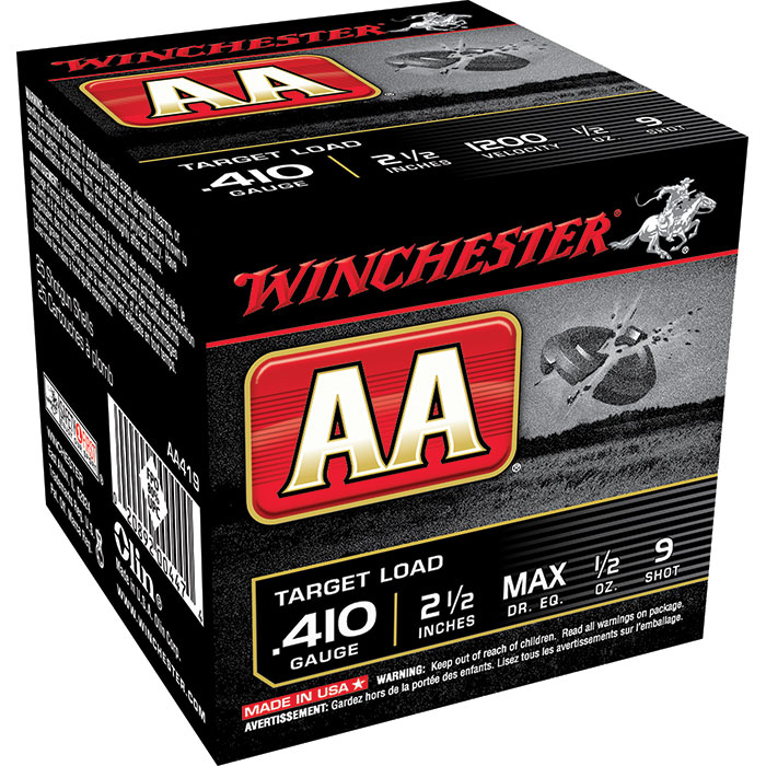 Winchester Ammo AA419 AA Target Loads 410 Gauge 2.5 in.  1|2 oz 9 Shot 25 Bx| 10 Cs