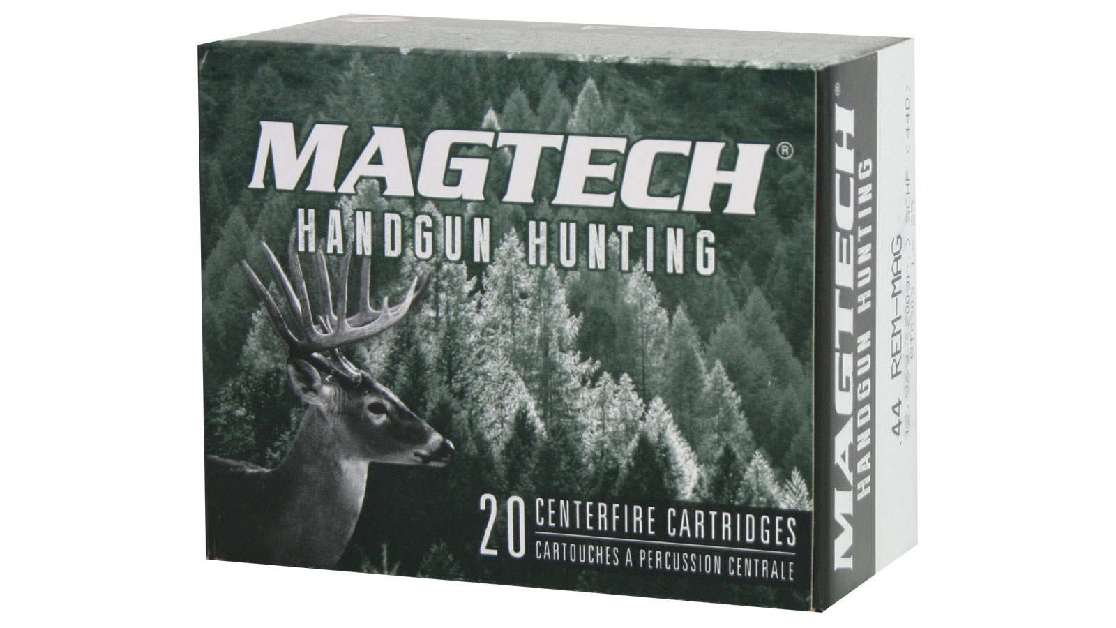 Magtech 44D Sport Shooting 44 Remington Magnum 200 GR Solid Copper Hollow Point 20 Bx| 50 Cs