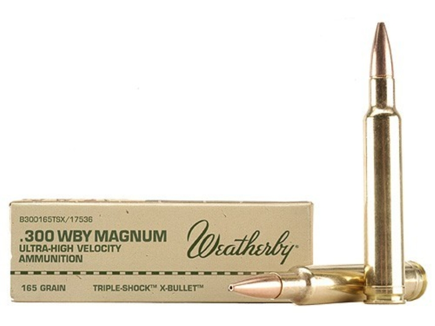 Weatherby B300165TSX 300 Weatherby Magnum Barnes TSX-Bullet 165 GR 20Rds