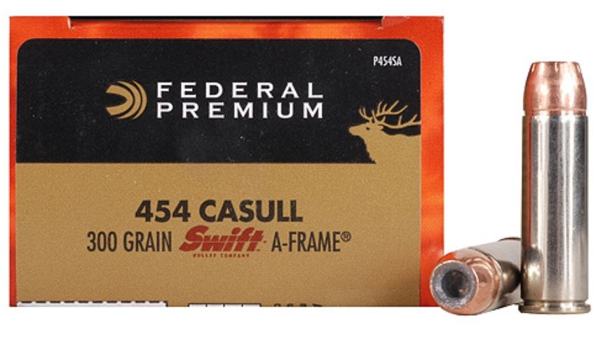 Federal PD454SA Premium Handgun 454 Casull 300 GR Swift A-Frame 20 Bx| 10 Cs